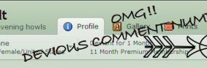 My DA Banner with 666 Comments by Crimsonpelt