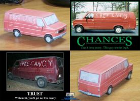 'Free Candy' Van Assembled by billybob884