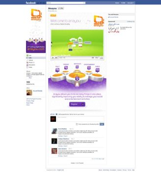 Anayou Welcome Tab on Facebook by da8esix