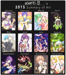 usarei's 2015 Summary of Art by usarei