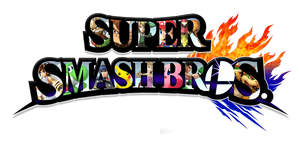 Super Smash Bros. Logo, Characters Inside by DarkSoul38118