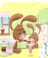 Milkshake Bunnys by See-past-the-madness