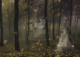 The Fall Visitor by MLeighS-DigitalArt