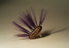 Purple Bug Ring by CephalophileStudio