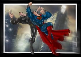 Man of Steel: I kneel for no one by Helmsberg