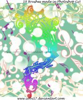 Musical Notes II Brushes by Coby17