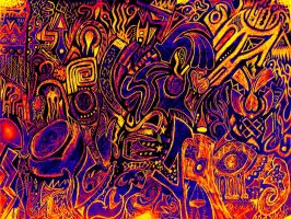 Psychedelic vision by Bideven
