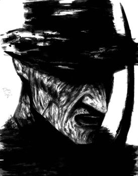 Freddy Krueger,paint and brush 4th version by DougSQ