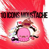 Moustache Icons by OhLalaTwelve