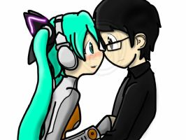 Hatsune Miku:.........Not one word. by Mystic2760