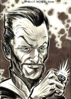 sinestro marker sketch card by BrentMcKee