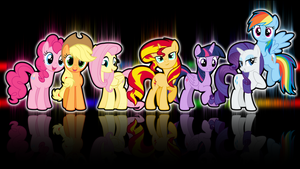 The Mane 7 by Mlp-WallpaperCreator