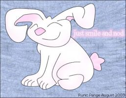 just smile and nod by pange