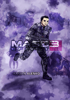 Mass Effect 3 Characters part 2 - Kaidan by Sketchy-raptor