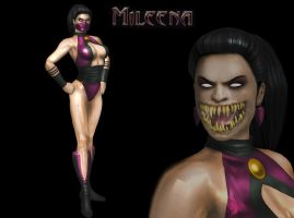 MILEENA MORTAL KOMBAT GOLD by SrATiToO