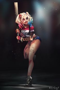 harley quinn by Akaggy