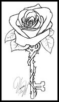 Rose Key -lines- by Candrence