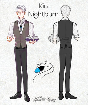 Kin Nightburn - Thehauntedlibraryoct Reference by nearmouse