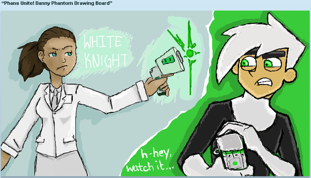 White Knight and Danny iscribblez by clay-phoenix