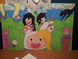 Adventure Time! Girl and Boy Posters by AdamsSketches