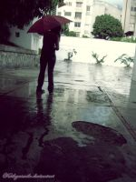 The rain waiting for me. by kathyxsmile