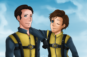 X-Men First Class: Brothers by ozamham