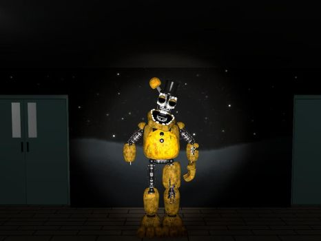 Ignited Golden Freddy Ver. 3 by Beastthedog15