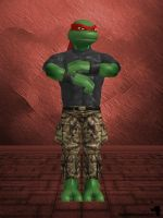 XnaLara - TMNT Raphael Casual Outfit by SilverMoonCrystal