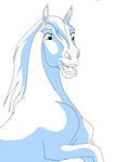 lineart horse head by Horsey-lineart