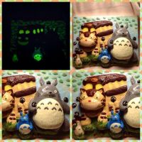Glow in the dark My Neighbour Totoro 3D painting by Brownie314