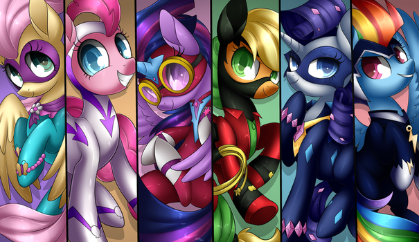 Power Ponies + Speedpaint by Scarlet-Spectrum