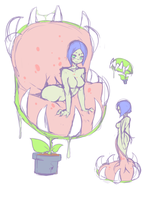 venus flytrap girl by punipaws