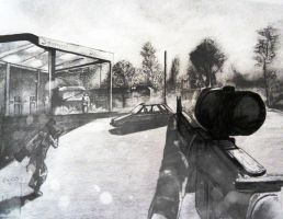 Battlefield 3 Drawing by GTzArt