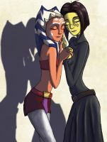 Ahsoka and Barriss - BFFs by Raikoh-illust