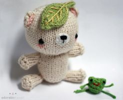 Leafy Bear and Tiny Frog by adorablykawaii
