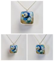 Piplup Pokemon Card Pendant by cutekick