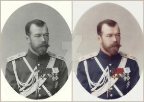 Photo colorization of Tsar Nicholas II by KraljAleksandar