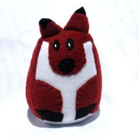 Red Fox Stuffed Animal by ZodiacEclipse