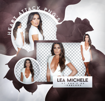 +Lea Michele Pack Png. by Heart-Attack-Png