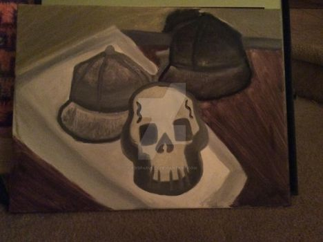 Skull painting in class by XBisparulzX