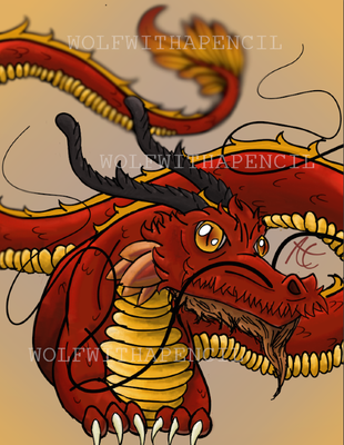 Chinese Fire dragon 2.0 by WolfWithAPencil