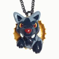 Poochyena Pop-out Necklace by LeiliaClay