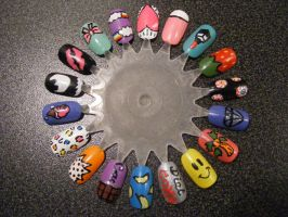 Nail Art Wheel 1 by Kimmmy