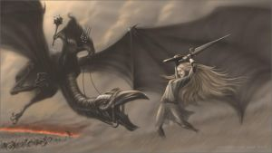 Eowyn and the Nazgul by TobyCarr