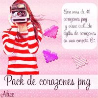 Pack de corazones png by Aliice15
