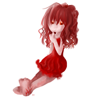 Red Girl Doodle by Qynat