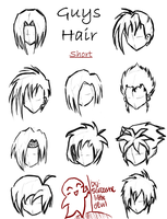 Hair styles for guys -short- by SarcasticLittleDevil