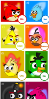 ABCA: Vote Best Male Angry Birds by MeganLovesAngryBirds