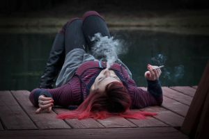 Smoking Red 7 by TwilitesMuse