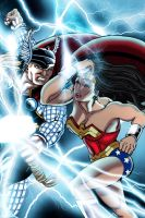 Thor vs. Wonder Woman by xXNightblade08Xx